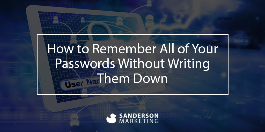 How to Remember All of Your Passwords Without Writing Them Down