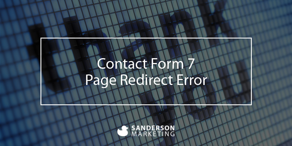 [ Contact Form 7 ] Page Redirect Error